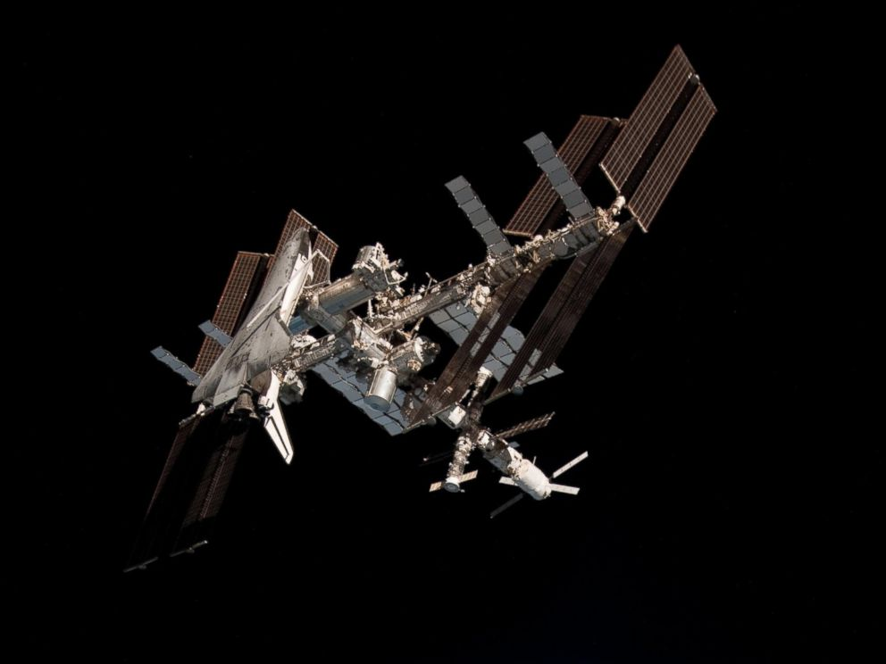 PHOTO: The International Space Station and the docked space shuttle Endeavour, in 2011.