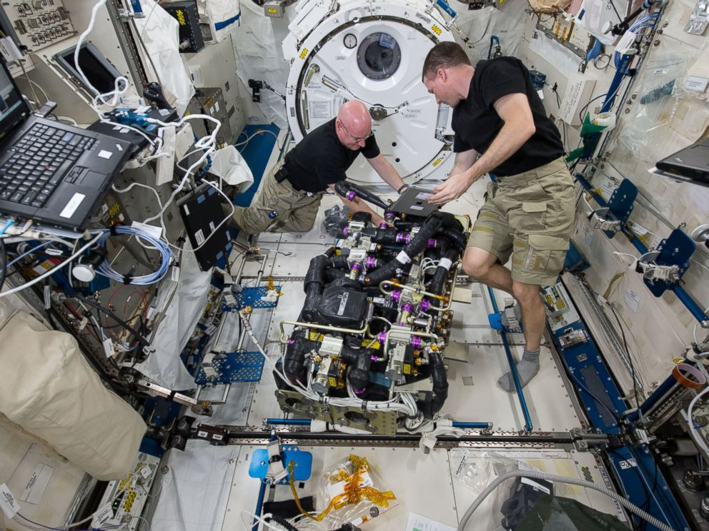 PHOTO: The Expedition 43 crew worked a variety of onboard maintenance tasks, ensuring crew safety and the upkeep of the International Space Stations hardware in 2015.