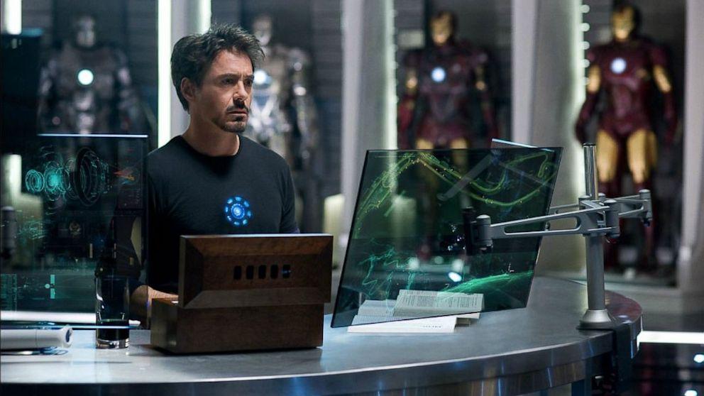 Robert Downey Jr. portrays Tony Stark in Iron Man 2.