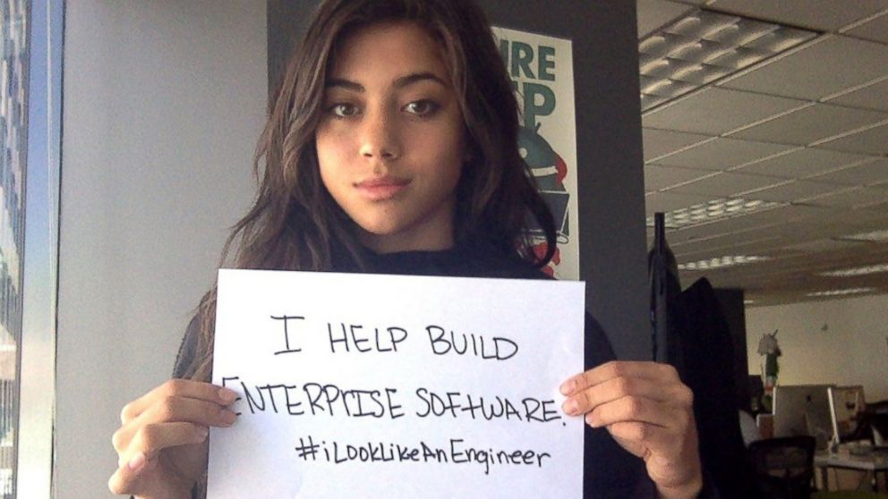 3f6dba6f61df1 The hashtag  ILookLikeAnEngineer trended after Isis Wenger