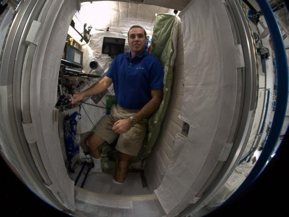 PHOTO: Astronaut Rick Mastracchio, of the United States, posted this photo of his sleeping quarters