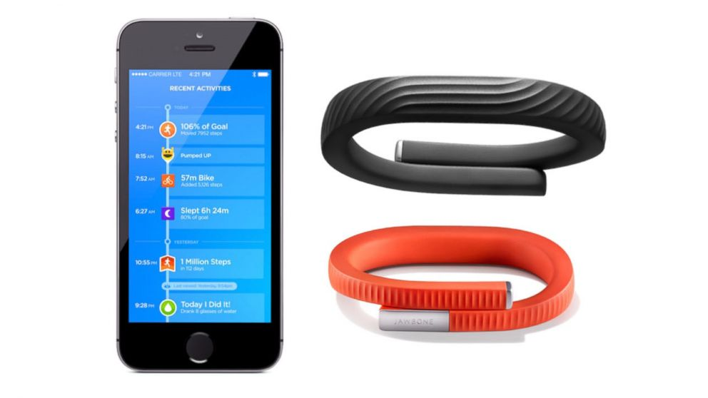 Jawbone Up24 Bluetooth And New Features Added To Por Fitness Tracker Abc News