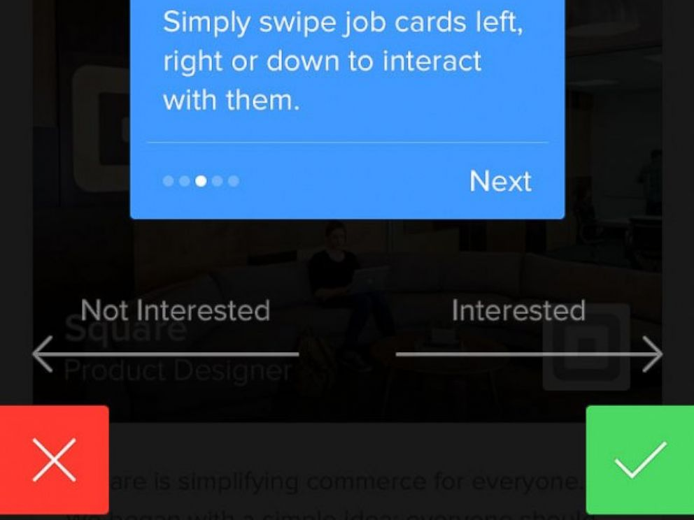 PHOTO: Jobr is an app for job seekers that promises to simplify the job search by allowing users to discover work and then swipe right or left on it to indicate their interest.