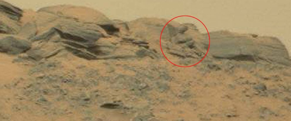 """PHOTO:UFO enthusiasts say the discovery of the """"Stunning Martian God"""" is proof intelligent life has existed on the Red Planet."""