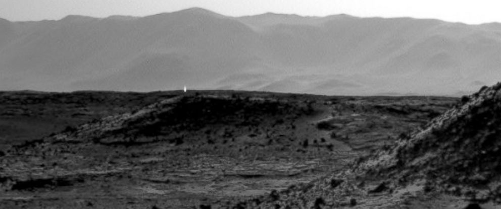 PHOTO: Mars dunes taken from by the Mars rover Curiosity.