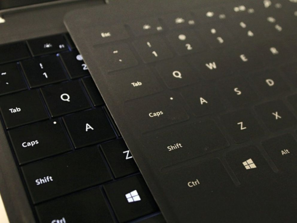 PHOTO: Microsofts Touch and Type Covers.
