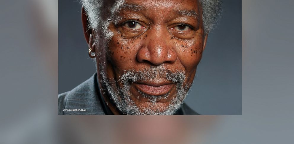 PHOTO: A portrait of Morgan Freeman by Kyle Lambert using just the iPad and digital paints.