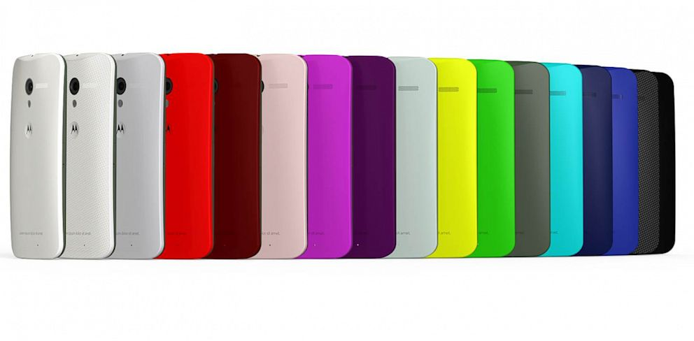 PHOTO: Motorolas Moto X phone can be customized with different colors and an engraving.