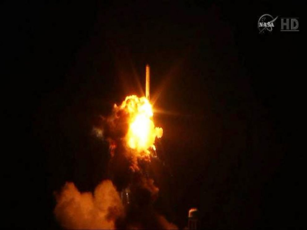PHOTO: The Orbital Sciences Corporation Antares rocket, with the Cygnus spacecraft onboard, is seen in this Oct. 28, 2014 still from NASA.