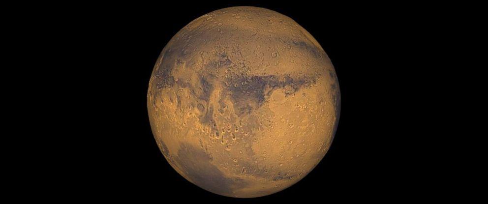PHOTO: Mars true-color globe showing Terra Meridiani.