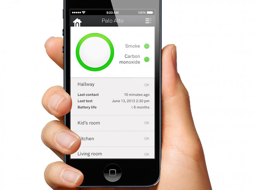 PHOTO: The Nest Protect app works with the smoke and CO detector.