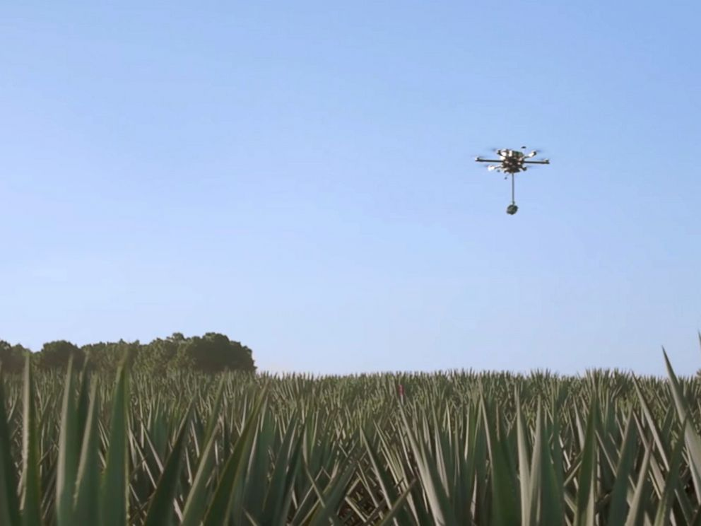 PHOTO: Patron is offering a drones eye view tour of how their product is made.