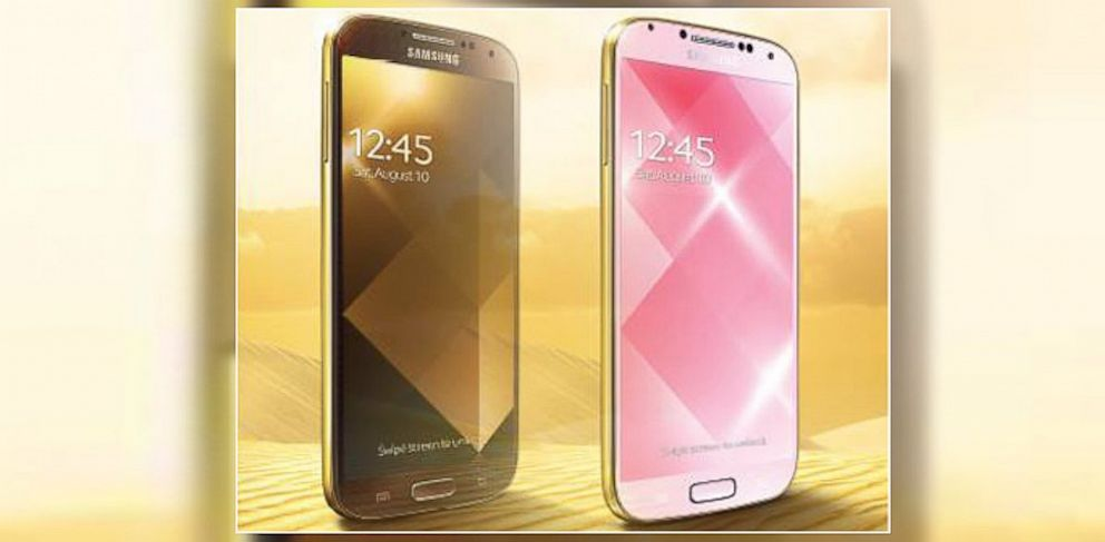 PHOTO: Samsung Gulf released photos of a gold Galaxy S4 smartphone.