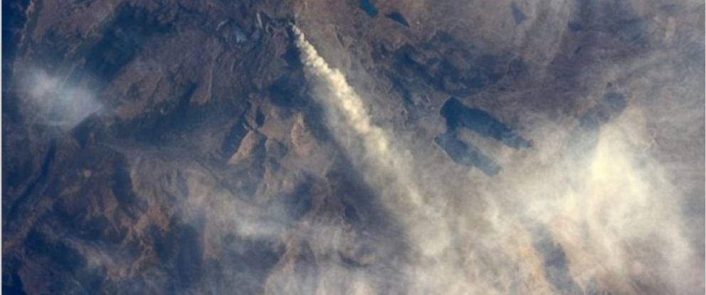 PHOTO:Astronaut Jeff Williams shared a photo of a volcano erupting in Chile.