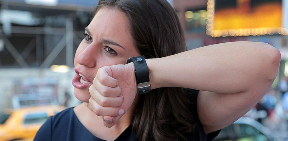PHOTO: The Galaxy Gear has a mic and speaker so it can be used as a phone.