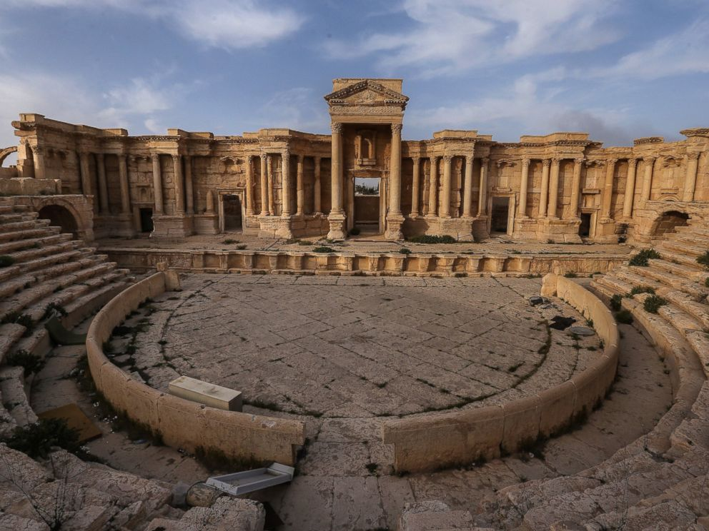 PHOTO: A view of the Roman Theatre in the ancient city of Palmyra, a UNESCO world heritage site, is seen here where the Islamic State (ISIS) staged executions.