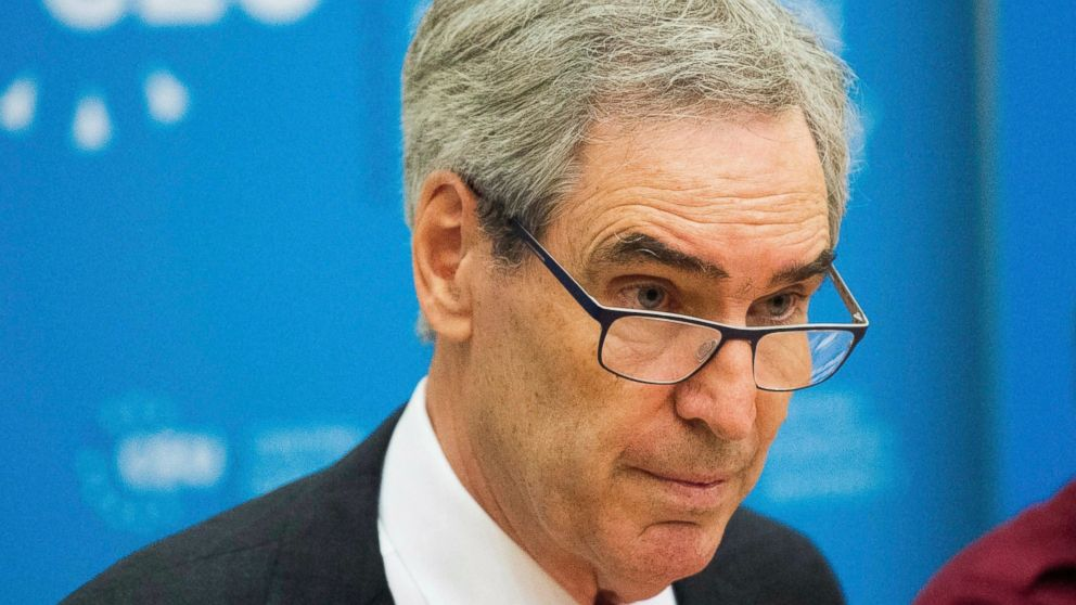 """FILE - In this May 30, 2017 file photo, President and Rector of the Central European University, CEU, Michael Ignatieff, speaks during a press conference in Budapest, Hungary. Ignatieff and Reporters Without Borders are among the winners of Israel's prestigious Dan David Prize this year. They are honored for """"Defending Democracy."""" (Zoltan Balogh/MTI via AP, File)"""