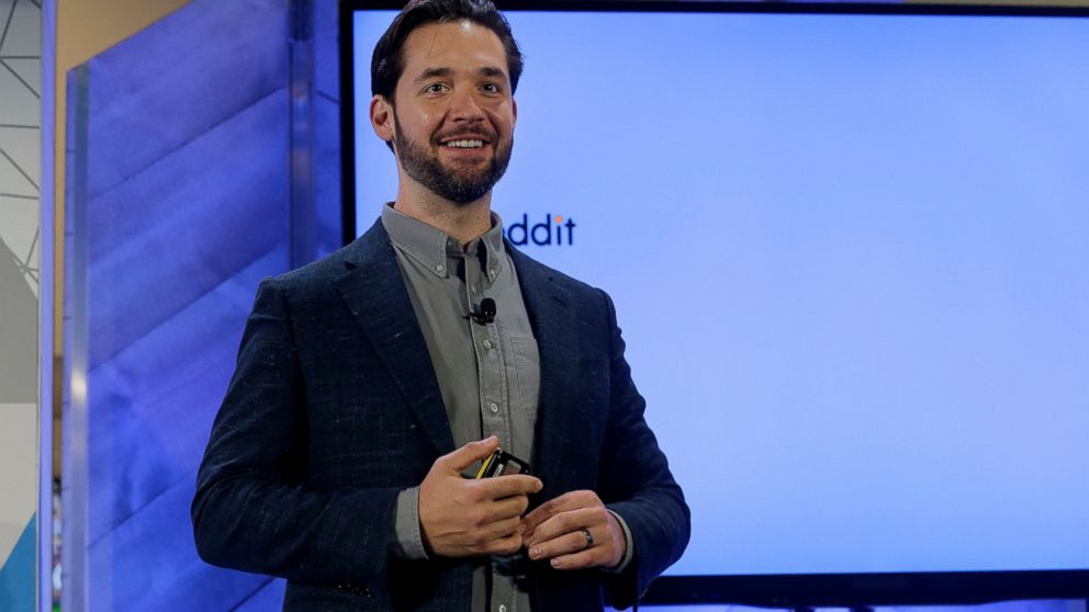 FILE- In this Dec. 13, 2017, file photo Alexis Ohanian, co-founder of Reddit, speaks at a Microsoft event in San Francisco, Wednesday, Dec. 13, 2017. Social media service Reddit Inc. says it has raised $300 million in a financing round led by Chinese internet giant Tencent. Reddit's CEO, Steve Huffman, told CNBC on Monday, Feb. 11, 2019, that values the privately held company at $3 billion. (AP Photo/Jeff Chiu, File)