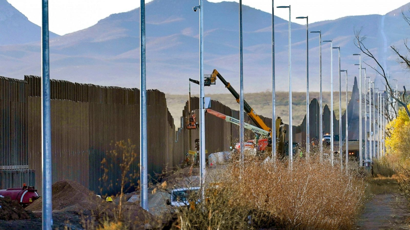 Damage From Border Wall Blown Up Mountains Toppled Cactus Abc News