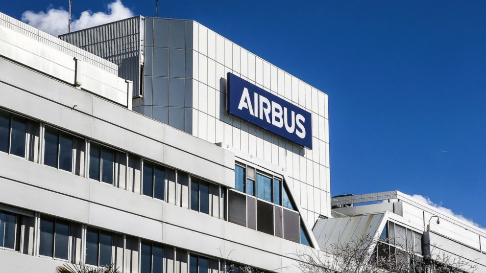 This March 6, 2018, photo shows a logo of Airbus group is displayed in front of its headquarters in Toulouse, western France. Hackers broke into its information systems but the breach had no impact on commercial activities, Airbus said in a statement Wednesday, Jan. 30, 2019. (AP Photo/Fred Scheiber)