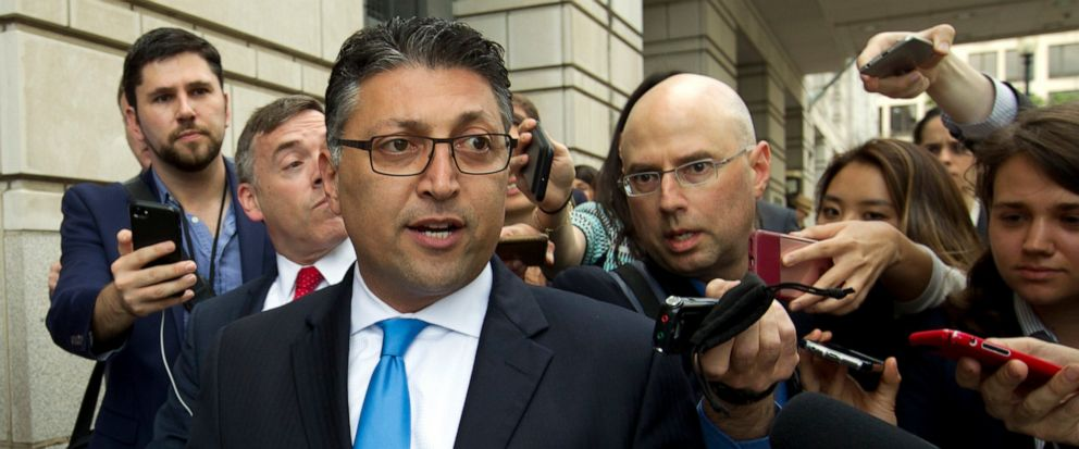 FILE - In this Tuesday, June 12, 2018, file photo, Assistant Attorney General for Antitrust Makan Delrahim leaves the federal courthouse in Washington. Delrahim suggested Tuesday, June 11, 2019, hell take a broad view of how competition is harmed wh
