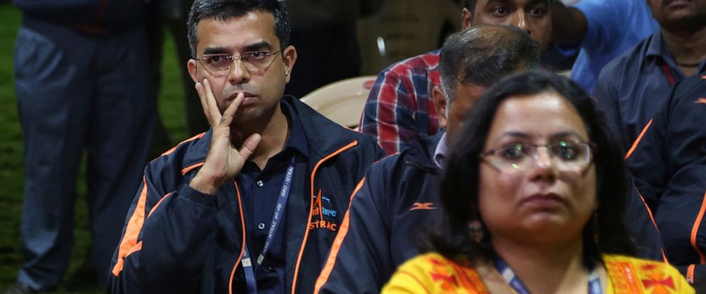 Indian Space Research Organization (ISRO) employees react as they wait for an announcement by organizationss chief Kailasavadivoo Sivan at its Telemetry, Tracking and Command Network facility in Bangalore, India, Saturday, Sept. 7, 2019. Indias spa