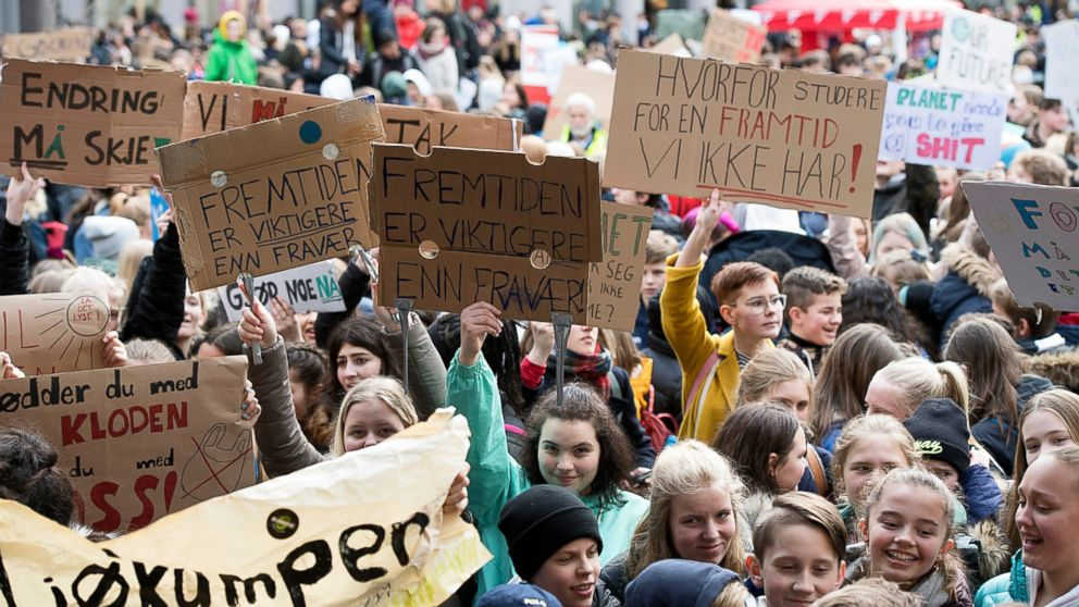 Bilderesultat for climate change protest students norway