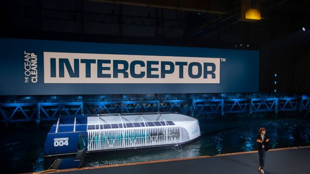 Dutch inventor unveils device to scoop plastic out of rivers