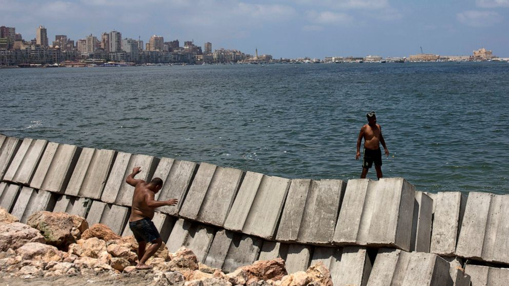 Rising seas threaten Egypt's fabled port city of Alexandria