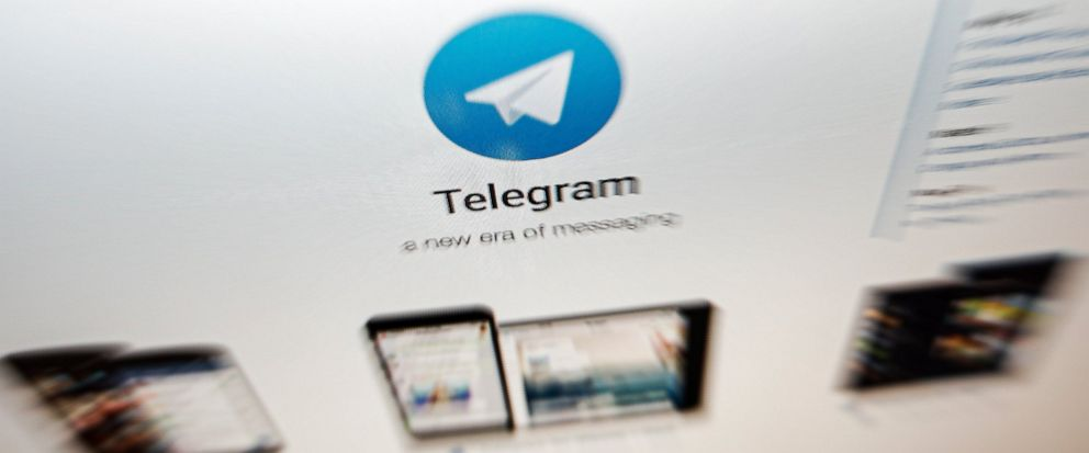 The website of the Telegram messaging app is seen on a computers screen in Beijing, Thursday, June 13, 2019. Encrypted messaging app Telegram said Thursday that it was hit by a powerful cyberattack from China while massive protests were unfolding in