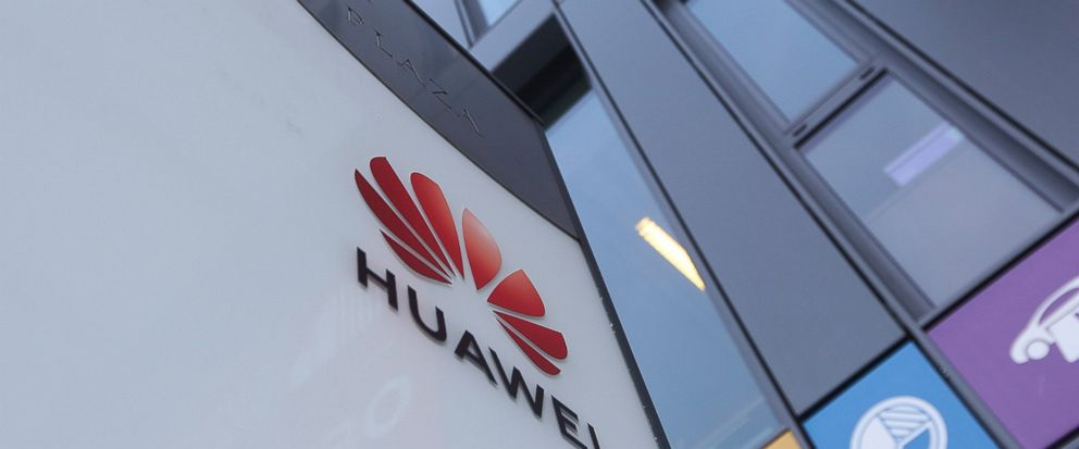 The Huawei logo displayed at the main office of Chinese tech giant Huawei in Warsaw, Poland, on Friday, Jan. 11, 2019. Polands Internal Security Agency has charged a Chinese manager at Huawei in Poland and one of its own former officers with espiona
