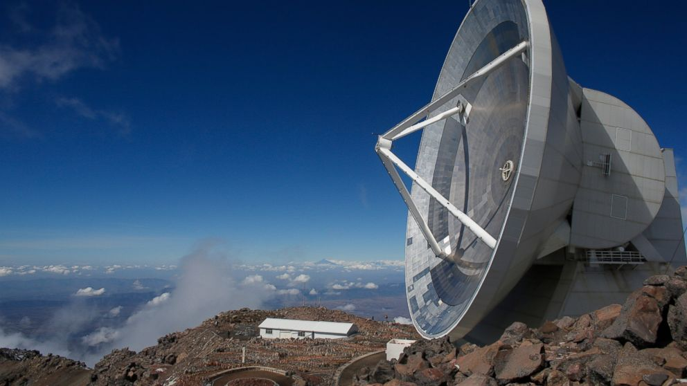 FILE - In this Nov. 16, 2013 file photo, the Large Millimeter Telescope stands on the summit of the Sierra Negra peak near the town of Atzitzintla, Mexico. Astronomers have become the latest victims of Mexico's violence with activities at the observatory being reduced because its staff has suffered so many crimes while traveling to the remote mountain site, researcher said Thursday, Feb. 7, 2019. (AP Photo/Dario Lopez-Mills, File)