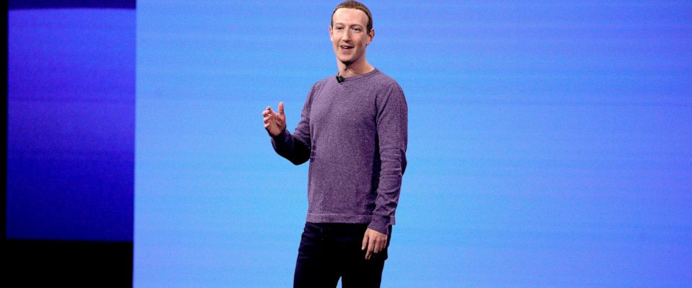 FILE - In this April 30, 2019, file photo, Facebook CEO Mark Zuckerberg makes the keynote speech at F8, Facebooks developer conference in San Jose, Calif. A Wall Street Journal report says that the FTC has voted this week to approve a fine of about