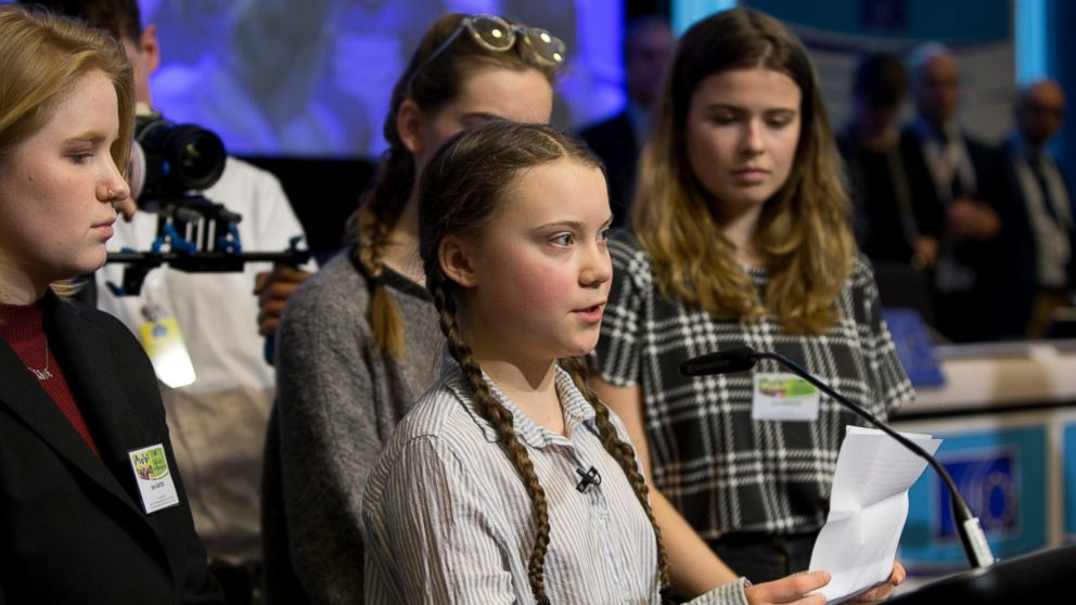 Image result for Greta Thunberg addressed European Union leaders in Brussels