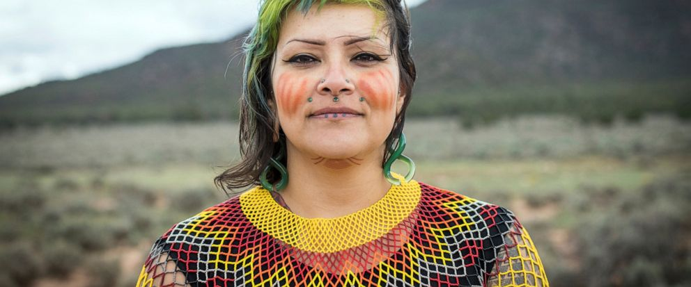 This undated photo provided by Amy Martin shows Ophelia Watahomigie-Corliss, a member of the Havasupai Tribal Council, at Red Butte, a site that the Havasupai consider sacred about 15 miles south of Tusayan, Ariz. Native American tribes are pushing t