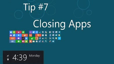 PHOTO: You can close apps in Windows 8 by dragging them downwards.