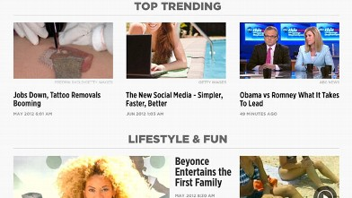 PHOTO: ABC News' revamped iPad app adapts to the time of day; it has Morning, Midday, and Primetime editions.