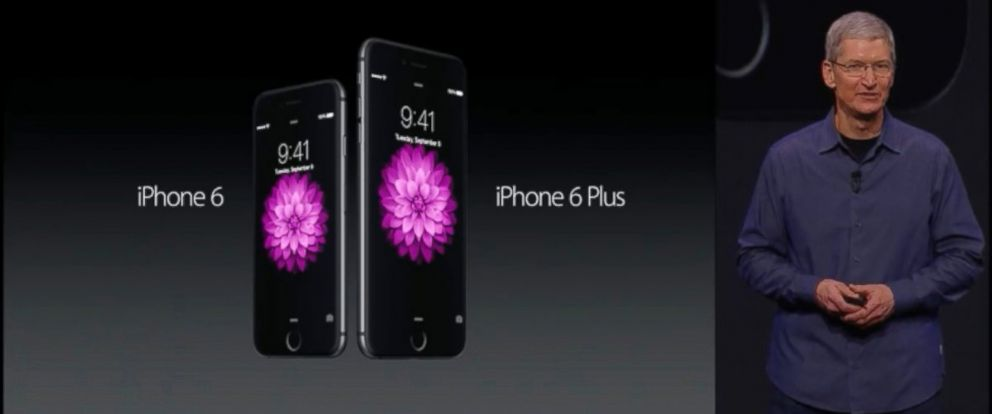 PHOTO: Apple CEO Tim Cook presents the iPhone 6, Sept. 9, 2014.