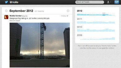 PHOTO: Twitter's archive function allows you to see all your old tweets.