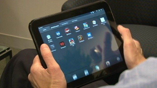 Hewlett Packard introduces its tablet computer.