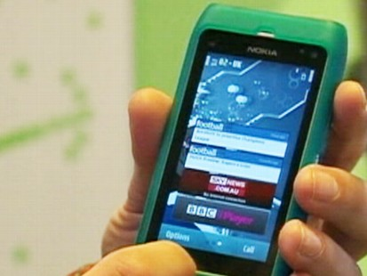Video: Nokia launches new cell phone.