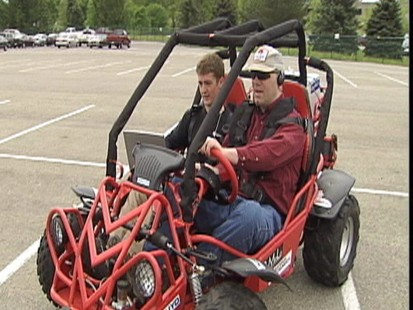 Video: Retrofitted buggy gives blind people a chance to drive.
