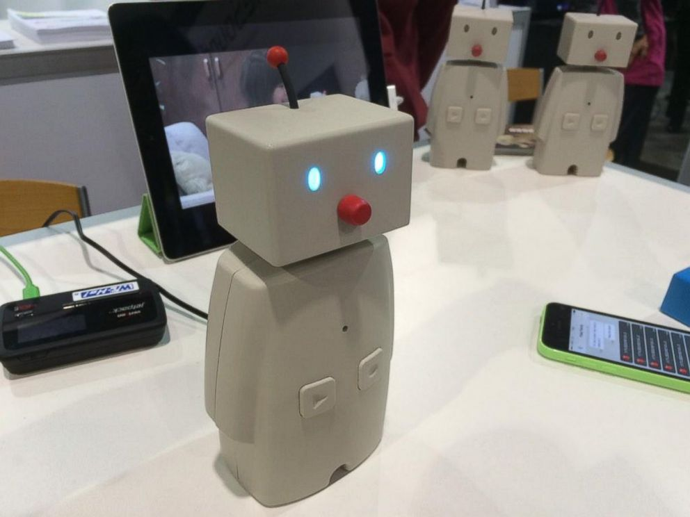PHOTO: The Bocco Kids Robot sits on a table at CES 2015 on Jan. 6, 2015.