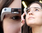 PHOTO: Google Glass, Googles glasses has a small display that allows you to see digital information in the real world.