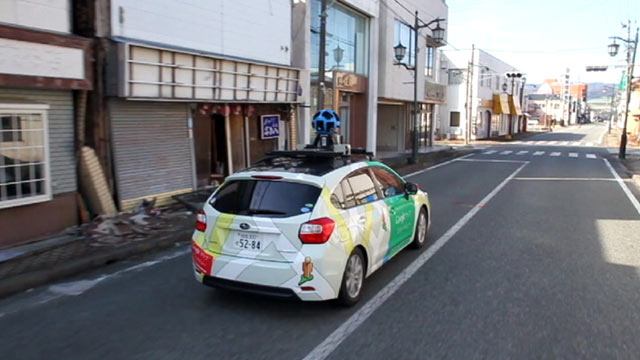 PHOTO: Google is digitally mapping neighborhoods closest to the Fukushima nuclear plant with its street view car.