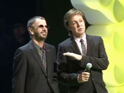 VIDEO: Paul McCartney and Ringo Starr unveil Beatles Rock Band.