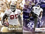 PHOTO: The official 49ers and the Ravens apps for iPhone.