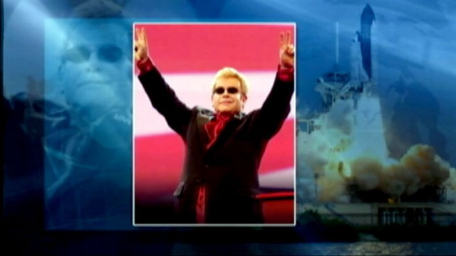 VIDEO: Atlantis crew wakes up to music and greetings from Beyonce, Paul McCartney and Elton John.