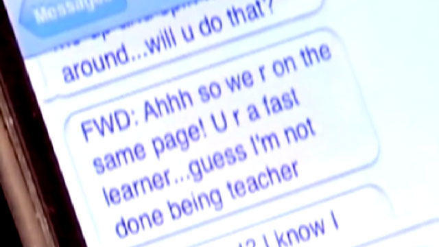 PHOTO: Text messages allegedly sent by a North Carolina teacher to her 13-year-old student.