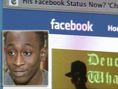 VIDEO: A teens facebook posting clears him of a crime.